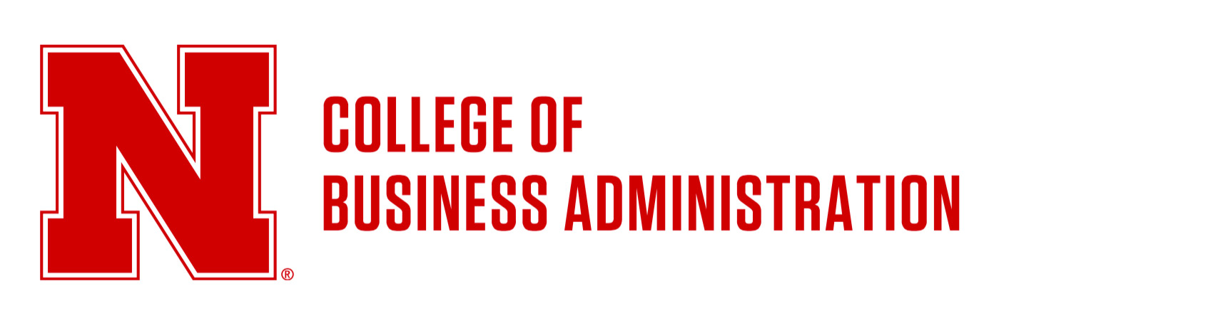 Horizontal lockup - College of Business Administration