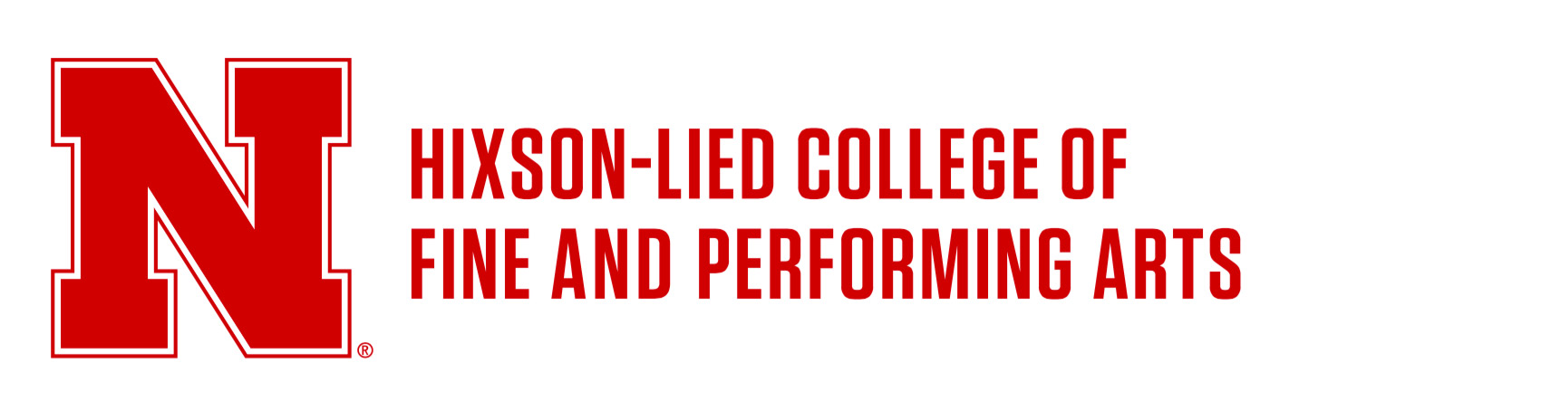 Horizontal lockup - Hixson-Lied College of Fine and Performing Arts