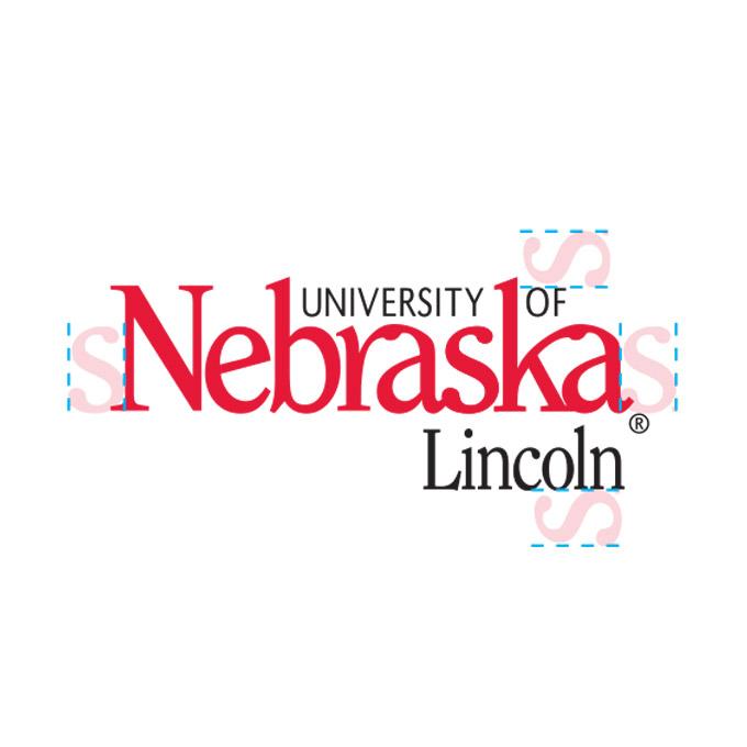 Nebraska wordmark minimum width