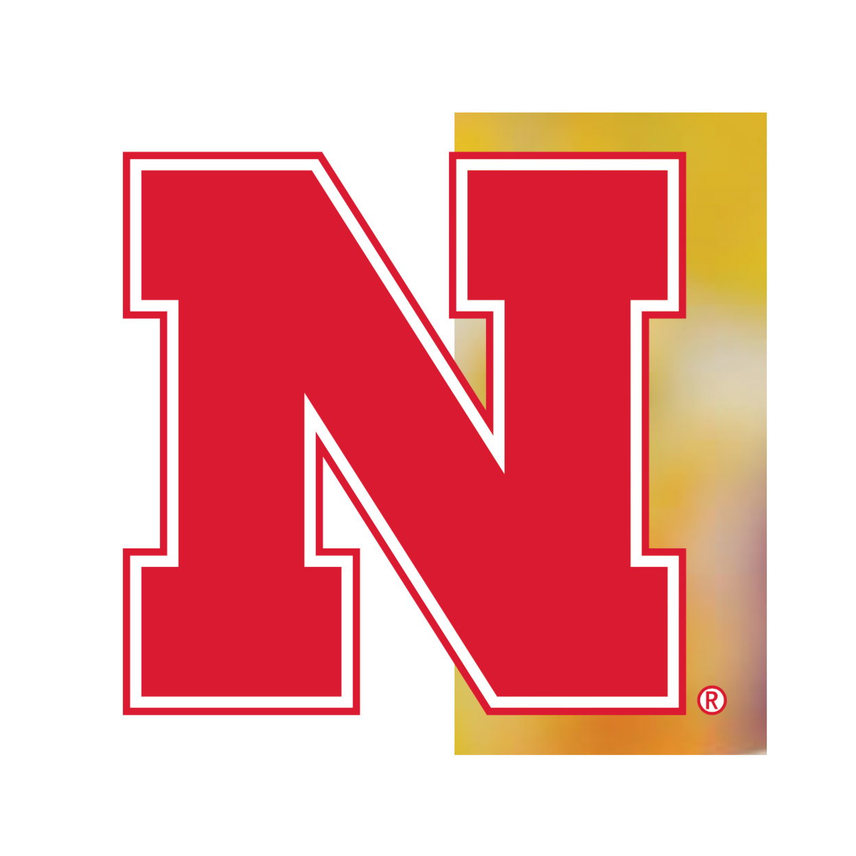 Nebraska N campus icon PMS 186CP