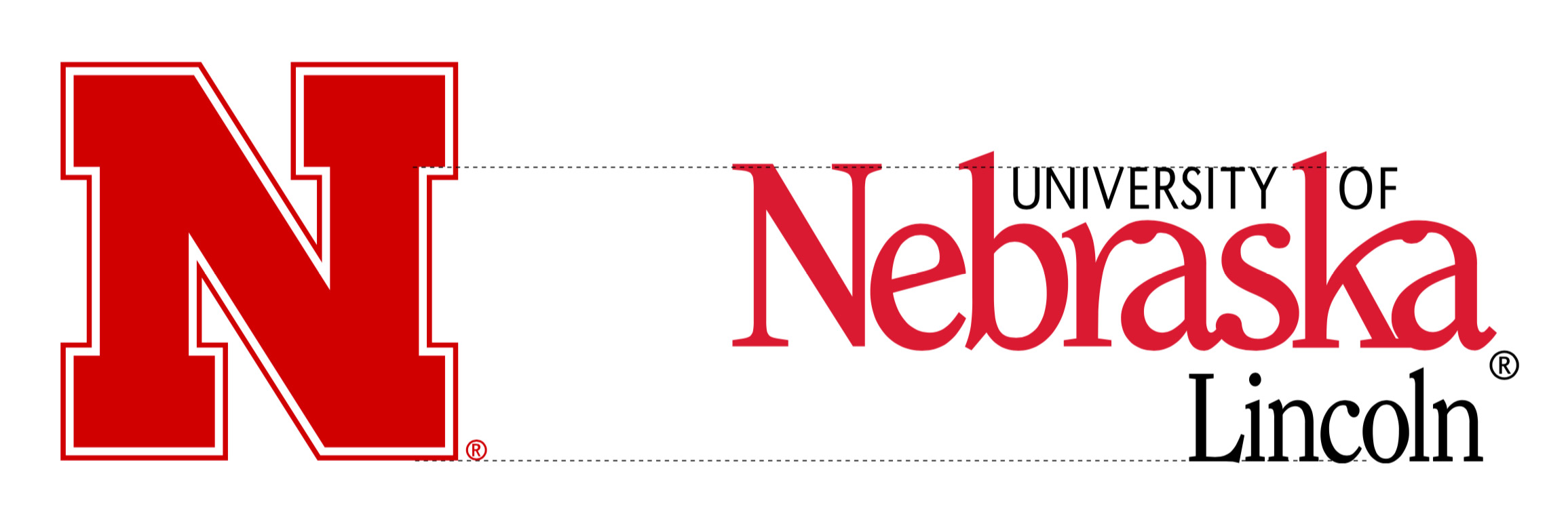 Nebraska N with wordmark proportions