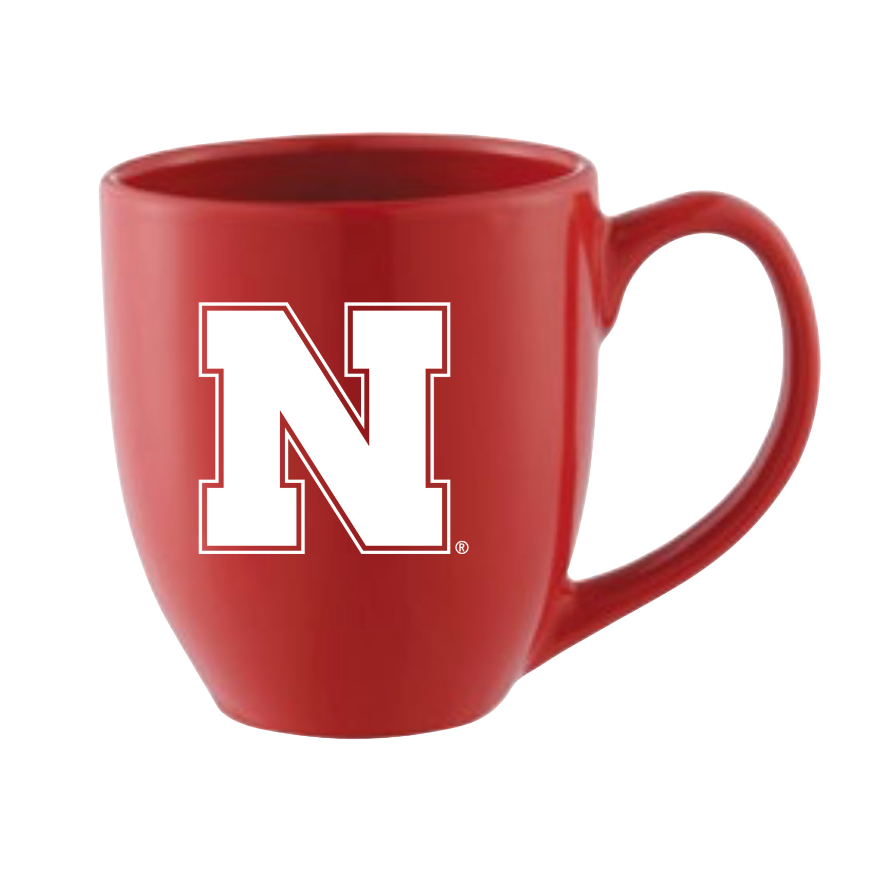 Nebraska N campus Reversed white transparent