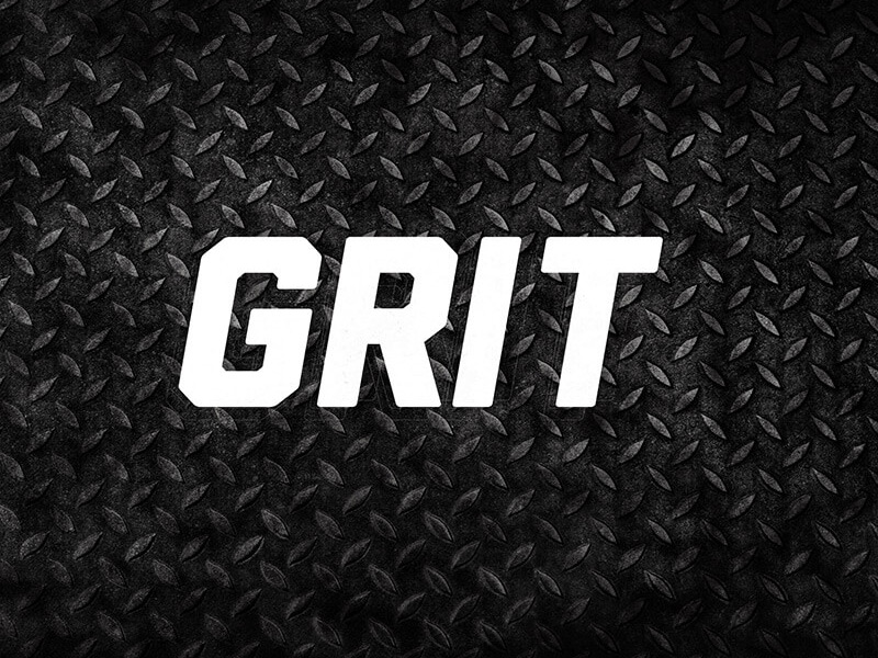 Grit text on textured background
