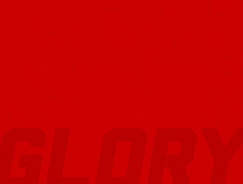 Red Glory text on textured background