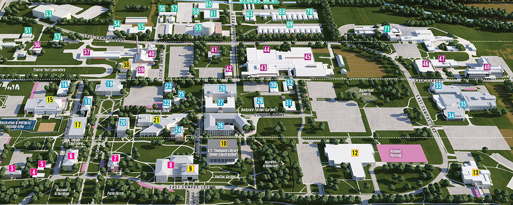 East Campus 3D map