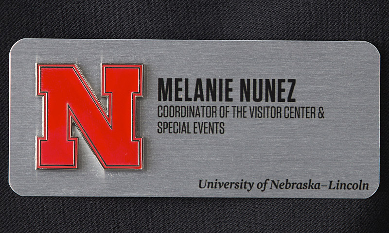 Metal nametag example