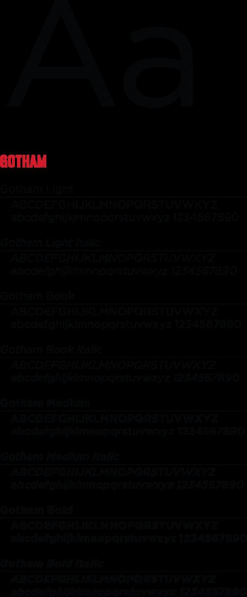 Gotham font examples