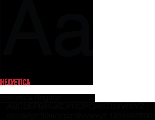 Helvetica font examples